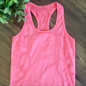 Lululemon Swiftly Pink Floral Design Tank Top